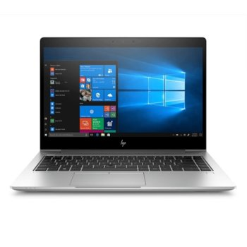 "Лаптоп HP EliteBook 840 G6 (4WG18AV_31323767)(сребрист), четириядрен Whiskey Lake Intel Core i7-8565U 1.8/4.6 GHz, 14.0"" (35.56 cm) Full HD Anti-Glare Display & Radeon 550X 2GB, (HDMI), 16GB DDR4, 512GB SSD, 1x Thunderbolt, Windows 10 Pro image"