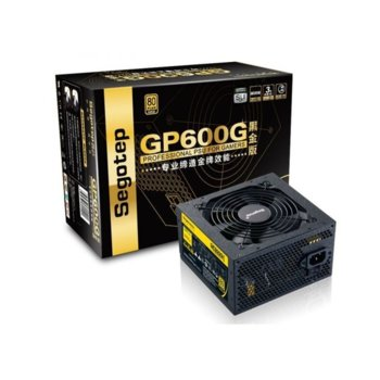 Захранване Segotep GP600G, 500W, Active PFC, 80+ Gold, 120мм вентилатор image