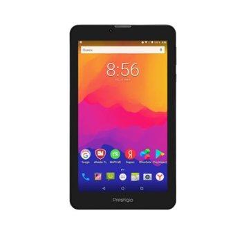 """Таблет Prestigio Wize 3437 (Марсела), LTE, 7"""" (17.78 cm) IPS дисплей, четириядрен 1.3GHZ, 1GB RAM, 8GB Flash памет (+ microSD слот), 2.0 & 0.3 Mpix, Android image"""