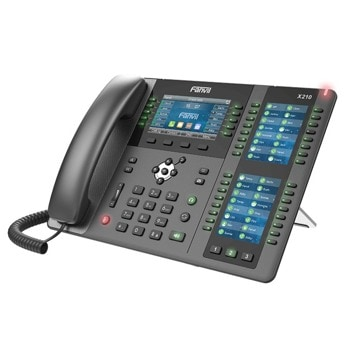 "VoIP телефон Fanvil X210, 20 SIP акаунта, 4.3"" (10.92 cm) 480x272 цветен дисплей, 2x 10/100/1000 Mbps LAN порта, PoE, черен image"
