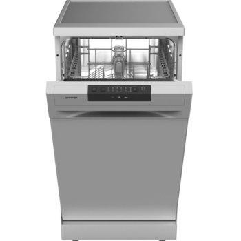 Съдомиялна Gorenje GS52040S, свободностояща, клас E, 9 комплекта, 3 програми, 4 температури, пълен AquaStop, отложен старт, инокс image