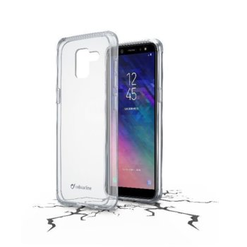 Калъф за Samsung Galaxy A6 2018, Cellular Line ClearDuo, прозрачен image