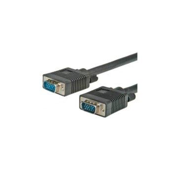 Кабел Roline 11.99.5257, VGA(м) към VGA(м), 10m, Екраниран image