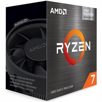 Процесор AMD Ryzen 7 5700G, осемядрен (3.8/4.6 GHz, 16MB Cache, 2000MHz графична честота, AM4) Box, с охлаждане image