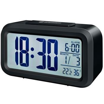 Часовник/будилник Bresser MyTime Duo LCD, часовник, будилник, термометър, влагомер, LCD дисплей с подсветка, черен image