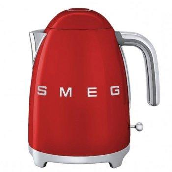 Електрическа кана SMEG KLF01RDEU, 1.7 литра, 2400W, скрит нагревател, подвижен миещ се филтър за варовик от неръждаема стомана, автоматично изключване когато няма вода, бял image