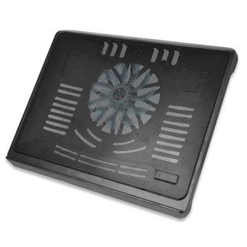 "Охлаждаща поставка за лаптоп EDNET 64029, универсална поставка за всички лаптопи до 17.3"", 140mm вентилатор image"