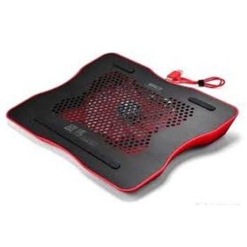 """Охлаждаща поставка за лаптоп HVC-160, за лаптопи до 15.6"""" (39.62cm), 1 вентилатор, USB, LED, черна image"""