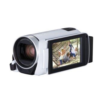"""Видеокамера Canon LEGRIA HF R806, Full HD, 3.0"""" (7.62 cm) LCD сензорен дисплей, 32x оптично увеличение, SDXC/SDHC слот, USB mini (TypeB), mini HDMI, Wi-Fi, NFC, бяла image"""