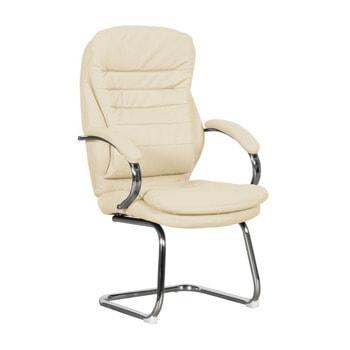 Посетителски стол Carmen 6154, еко кожа, цвят/крем image
