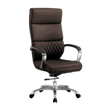 Директорски стол RFG GRANDE HB, екокожа, кафяв image