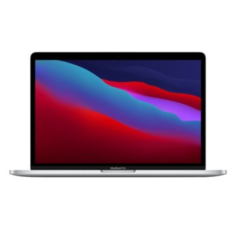 "Лаптоп Apple MacBook Pro (MYDC2ZE/A)(сребрист), осемядрен Apple M1 3.20 GHz, 13.3"" (33.78 cm) IPS LED-Backlit Truetone Display, (Thunderbolt 3), 8GB, 512GB SSD, macOS image"