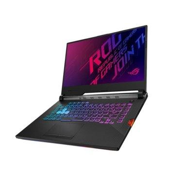 "Лаптоп Asus ROG Strix G G531GT-AL004 (90NR01L3-M09220), шестядрен Coffee Lake Intel Core i7-9750H 2.6/4.5 GHz, 15.6"" (39.62 cm) Full HD IPS Anti-Glare Display & GF GTX 1650 4GB, (HDMI), 8GB DDR4, 512GB SSD, 1x USB 3.2 Type C, Free DOS image"