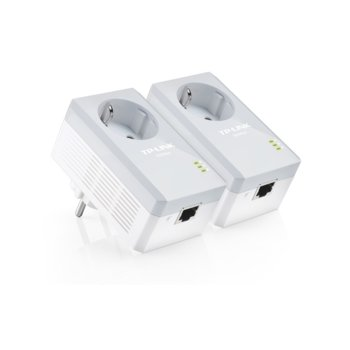 Powerline адаптер TP-Link TL-PA4010PKIT, 500Mbps, Powerline адаптер, комплект 2 устройства image