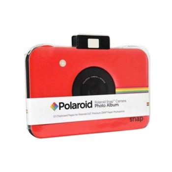 Фотоалбум Polaroid Snap Themed Scrapbook, 12 страници, червен image