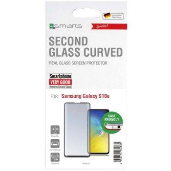 Протектор от закалено стъкло /Tempered Glass/, 4Smarts 4S493322, за Samsung Galaxy S10E, извит, черна рамка image