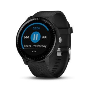 """Смарт часовник Garmin vívoactive 3 Music, 1,2""""(3.4 cm) дисплей, Bluetooth, Wi-Fi, GPS, водоустойчив, силиконова каишка, черен image"""