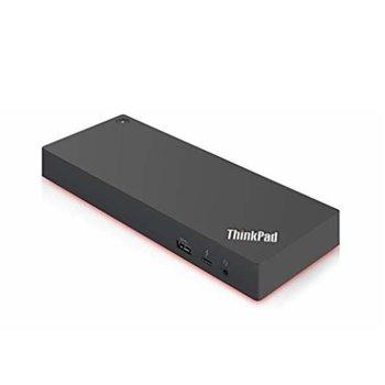 Докинг станция Lenovo WorkStation 170W 40AN0170EU, съвместим с ThinkPad P52/P72/P1/X1 Extreme, 2x DisplayPort, 2x HDMI, 1x Ethernet, 1x Thunderbolt 3 (USB Type-C), 1x 3.5mm, 5x USB 3.1 Type A image