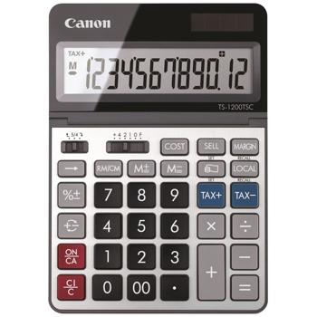 Калкулатор Canon AS-120, настолен, дисплей до 12 цифри, сив image