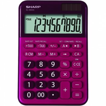 Калкулатор SHARP EL-M335BRD, 10 разряден дисплей, memory функция, преобразуване на валута, червен image