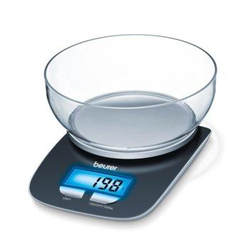 Кухненски кантар Beurer KS25, дигитален, до 3 кг., LCD дисплей, 1.2л купа, сив image