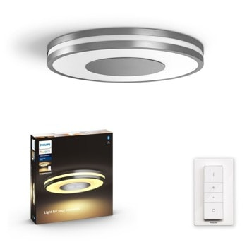 LED таванна лампа Philips Being Hue 32610/48/P6, 27W, 24 V, 2400 lm, сребриста image