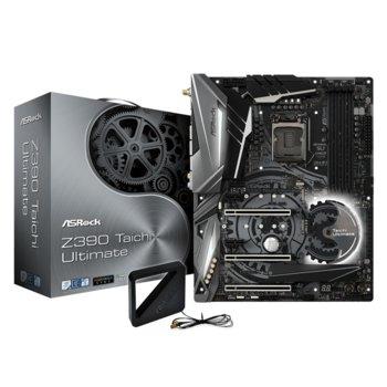 Дънна платка ASROCK Z390 Taichi Ultimate, Z390, LGA1151, DDR4, PCI-Е (HDMI&DP)(CFX), 6x SATA 6Gb/s, 2x M.2 slot, 7x USB 3.1, ATX image