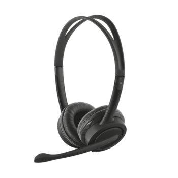 Слушалки Trust Mauro USB Headset черни микрофон product