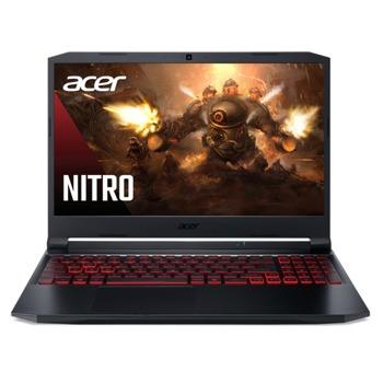 "Лаптоп Acer Nitro 5 AN515-57 (NH.QBVEX.002-16GB), осемядрен Tiger Lake Intel Core i7-11800H 2.3/4.6 GHz, 15.6"" (39.62 cm) Full HD IPS 144Hz Anti-Glare Display & GF RTX 3050Ti 4GB, (HDMI), 16GB DDR4, 512GB SSD, 1x USB Type-C, No OS image"