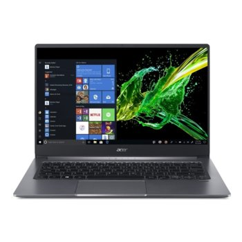 "Лаптоп Acer Swift 3 SF314-57-712U (NX.HJFEX.007)(сив), четириядрен Ice Lake Intel Core i7-1065G7 1.3/3.9 GHz, 14.0"" (35.56 cm) Full HD Anti-Glare Display, (HDMI), 8GB DDR4, 1TB SSD, 1x Thunderbolt 3, Windows 10 Home image"