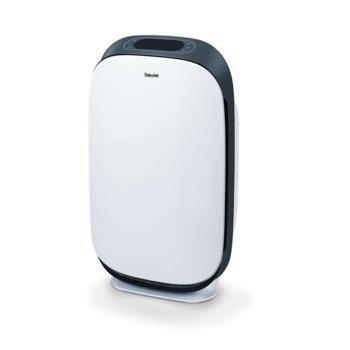 Пречиствател на въздух Beurer LR 500, автоматично изключване, таймер, 4 скорости + турбо режим, нощен режим, Bluetooth, Wi-Fi, за помещения до 34 - 106 m², бял/сребрист image