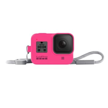 Калъф GoPro Sleeve + Lanyard Electric Pink за HERO8 Black, с връзка, розов image