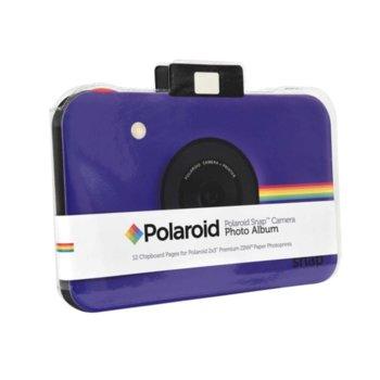 Фотоалбум Polaroid Snap Themed Scrapbook, 12 страници, лилав image