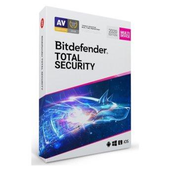 Софтуер Bitdefender Total Security, 10 потребителя, 1 година image