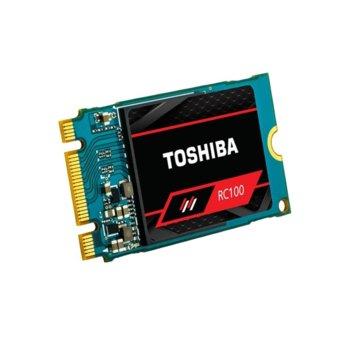 Памет SSD 120GB Toshiba RC100, NVMe, M.2 (2242), скорост на четене 1600MB/s, скорост на запис 1100MB/s image