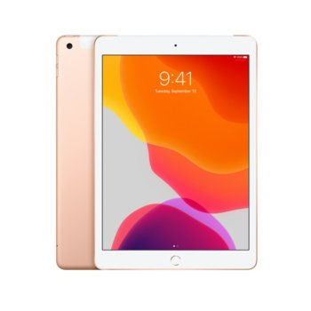 "Таблет Apple iPad 7 10.2"" (MW792HC/A)(Gold), Wi-Fi, 10.2"" (25.90 cm) IPS Retina дисплей, четириядрен A10 Fusion 2.34GHz, 2GB RAM, 128GB Flash памет, 8.0 & 1.2 Mpix, iPadOS, 483g image"