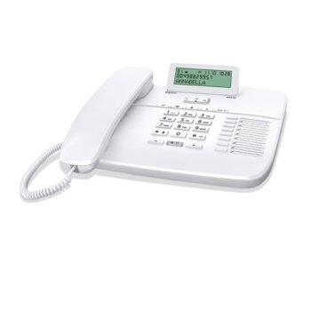 Стационарен телефон Gigaset DA710, LCD черно-бял дисплей, бял image