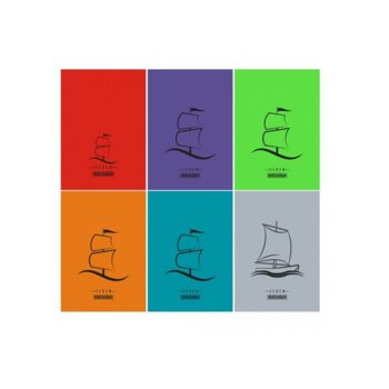 Тетрадка Seren Fluor, формат А5, офсет, редове, 60 листа image