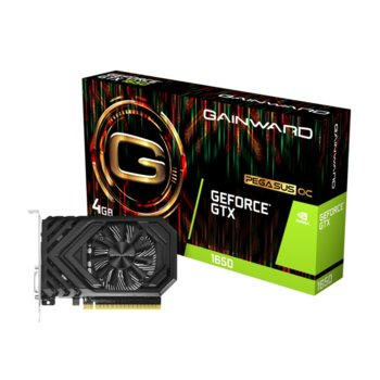 Видео карта nVidia GeForce GTX1650, 4GB, Gainward GeForce GTX 1650 Pegasus OC (DVI), PCI-E 3.0, GDDR5, 128Bit, HDMI, DVI image