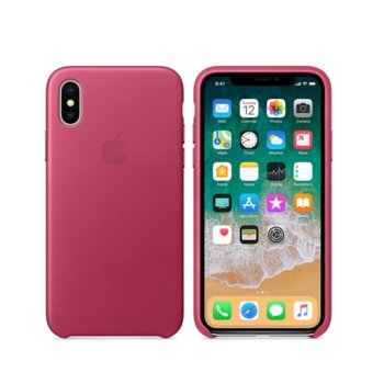 Apple iPhone X Leather Case - Pink Fuchsia product