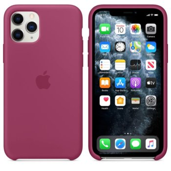 Калъф за Apple iPhone 11 Pro Max, силиконов, Apple Silicone Case MXM82ZM/A, светлочервен image