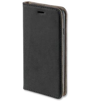 Калъф за iPhone X/XS, естествена кожа, черен product