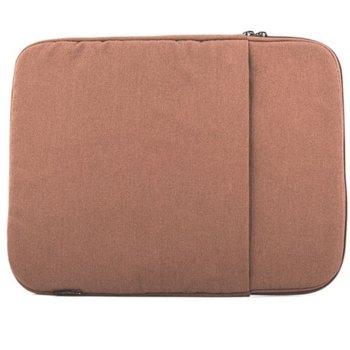 """Калъф за лаптоп Logic Plush до 14"""" (35.56cm), плюш отвътре, кафяв image"""
