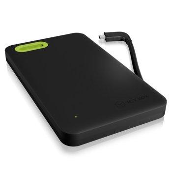 """Кутия 2.5"""" (6.35 cm) RaidSonic IB-277-C3, за HDD/SSD, USB 3.0 Type-C, черна image"""