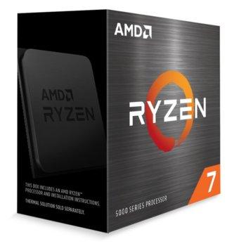 Процесор AMD Ryzen 7 5800X, осемядрен (3.8/4.7GHz, 32MB Cache, AM4) BOX, без охлаждане image