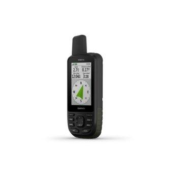 """Ръчна навигация Garmin GPSMAP 66s, 3.0"""" (7.62 cm) TFT сензорен цветен дисплей, Bluetooth, Wi-Fi, 16GB вградена памет, microSD слот, IPX7 защита, до 16 часа време за работа, вградена основна карта image"""