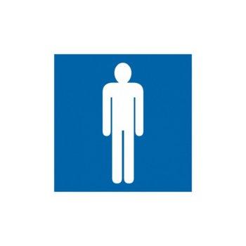 """Самозалепващ знак """"Само за мъже"""", с два начина на залепване image"""