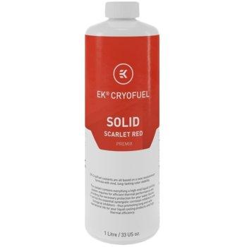 Течност за водно охлаждане Ekwb EK-CryoFuel Solid Scarlet Red Premix, 1000ml, червена image