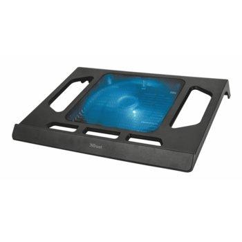 """Охлаждаща поставка за лаптоп TRUST Kuzo Laptop Cooling Stand, универсална поставка за всички лаптопи до 17,3"""", 170mm вентилатор image"""