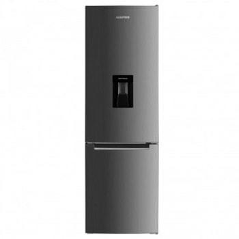 Хладилник с фризер Albatros CFXD341, клас F, 260 л. общ обем, свободностоящ, 263 kWh/годишно, регулируем термостат, вътрешно LED осветление, диспенсър за вода, реверсивни врати, инокс image